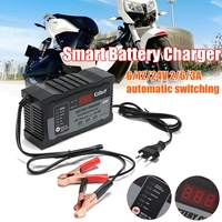 Automatic Smart 12V/24V 2A/3A/6A Smart Fast Batterie Lead Acid Battery Charger For Car Motorcycle