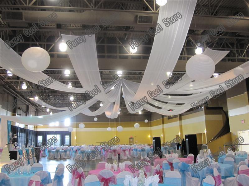 de luxe de mariage plafond drap 10 m x 14 mpc beaucoup couleur disponible 10 - Aliexpress Decoration Mariage