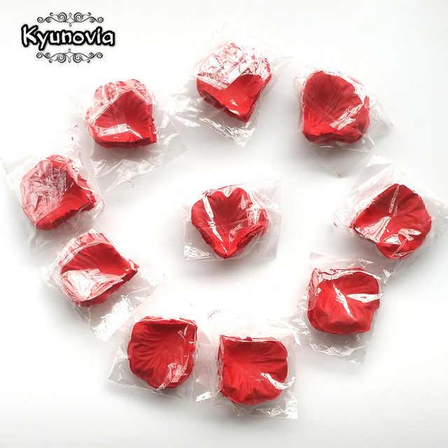 Hot 1000pcs Fake Rose Petals Flower Girl Toss Silk Petal Artificial Petals For Wedding Confetti Party Event Decoration