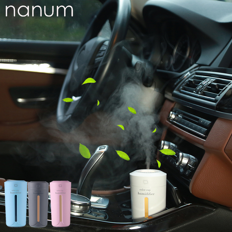 Car Air Humidifier Essential Oil Diffuser With 7 Color Lights Electric Aromatherapy USB Humidifier Car Aroma Diffuser