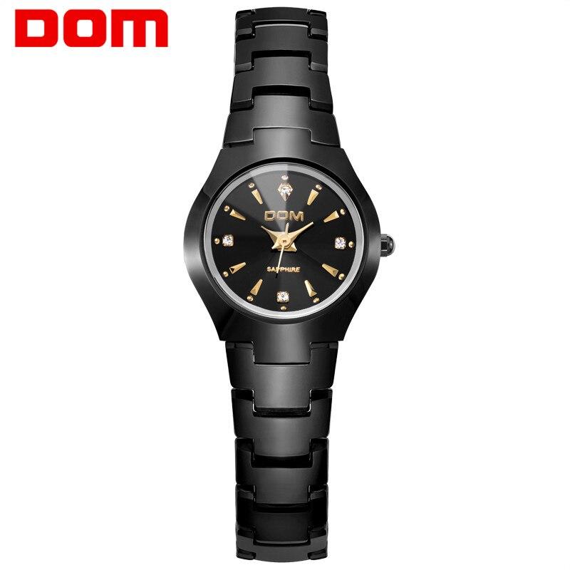DOM 2018 Nouvelle Montre Femmes relogio feminino Robe quartz montres or argent étanche bracelet En Acier De Tungstène montres W-398GK-1M