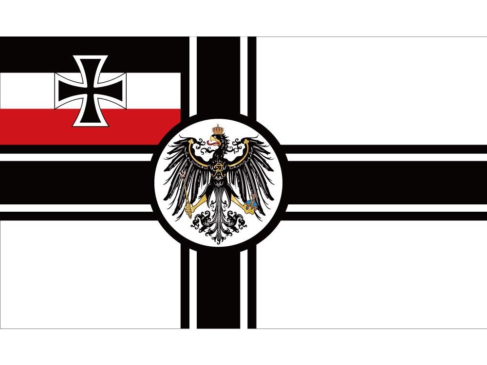 Empire allemand Drapeau 60*90 cm 90*150 cm 3x5 Pieds Polyester De 1903 À 1918 croix de fer Première Guerre Mondiale Allemagne Armée Drapeaux Bannières