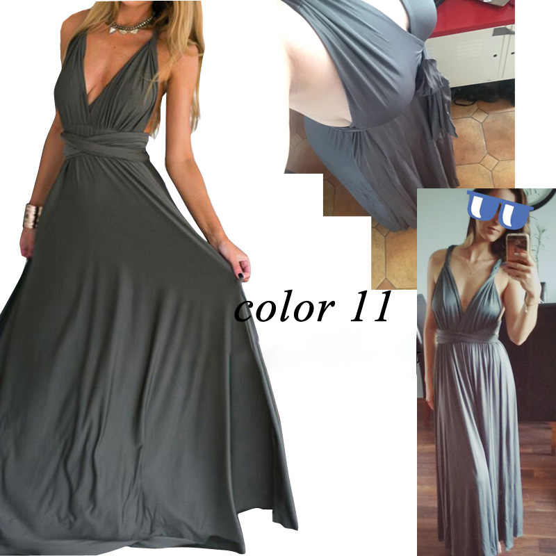 7fb986dc6686 ... Women's Transformer Convertible Boho Wrap Multi Way Party Long Maxi  Dress 2019 Sexy Bandage Bridesmaids Infinity ...