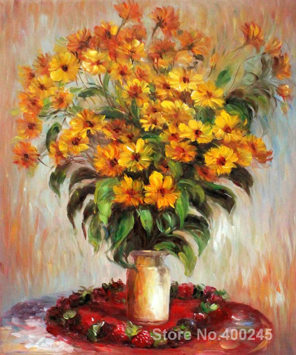 Подарок custom пейзажной живописи топинамбур Клода Моне высокое качество ручная роспись