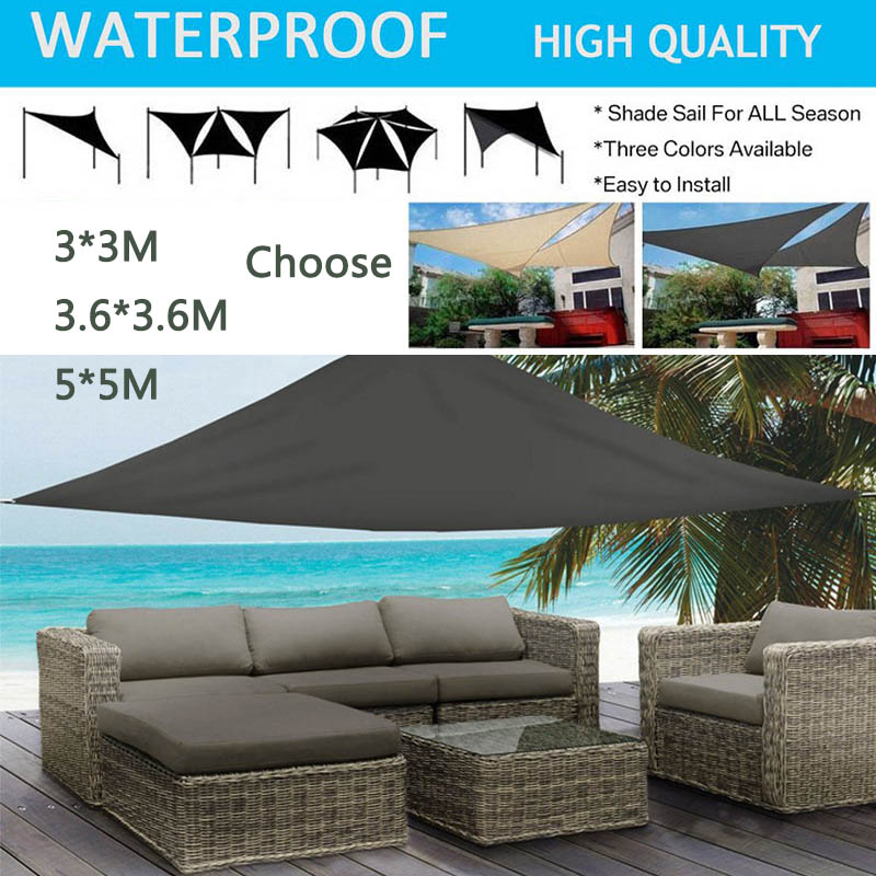 Anti-UV Awning Sun Shelter Triangle Canopy Outdoor Shelters