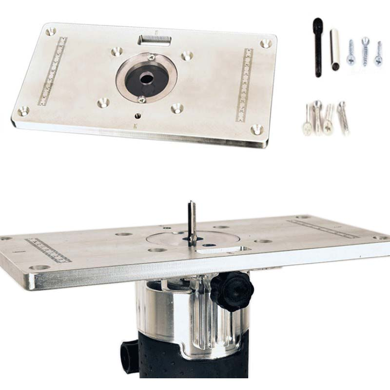 Trimming Machine Auxiliary Tools Aluminum Alloy Flip Board DIY hand Trimming Machine Router Tools Woodworking Tools