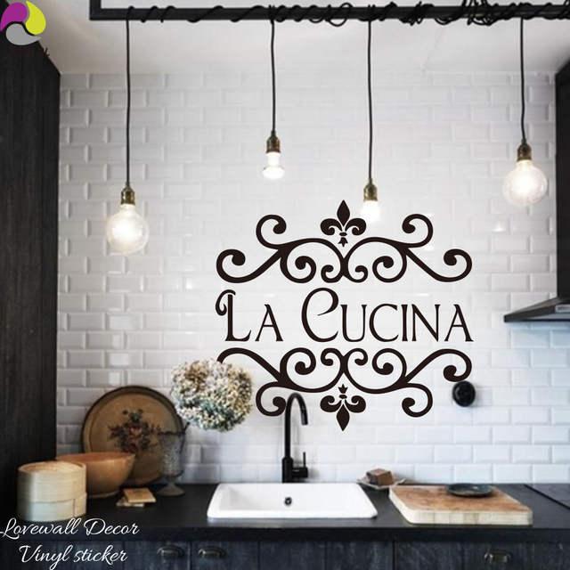 online shop la cucina kitchen wall sticker italian kitchen quote