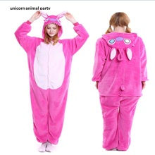 Cartoon Anime Cosplay Costume Cute Animal Pyjamas Kigurums Pink  Onesies Pajamas For Adults Unisex