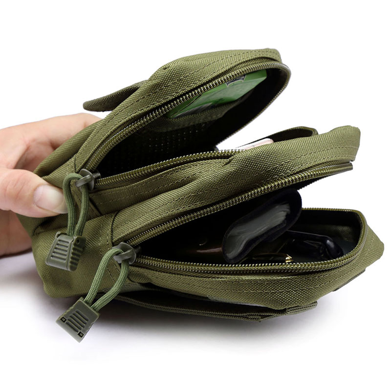Outdoor Tactical Military 600D Nylon EDC Molle Waist Bags Mobile Phone Utility Sundries Pouch Equipment Fanny Packs