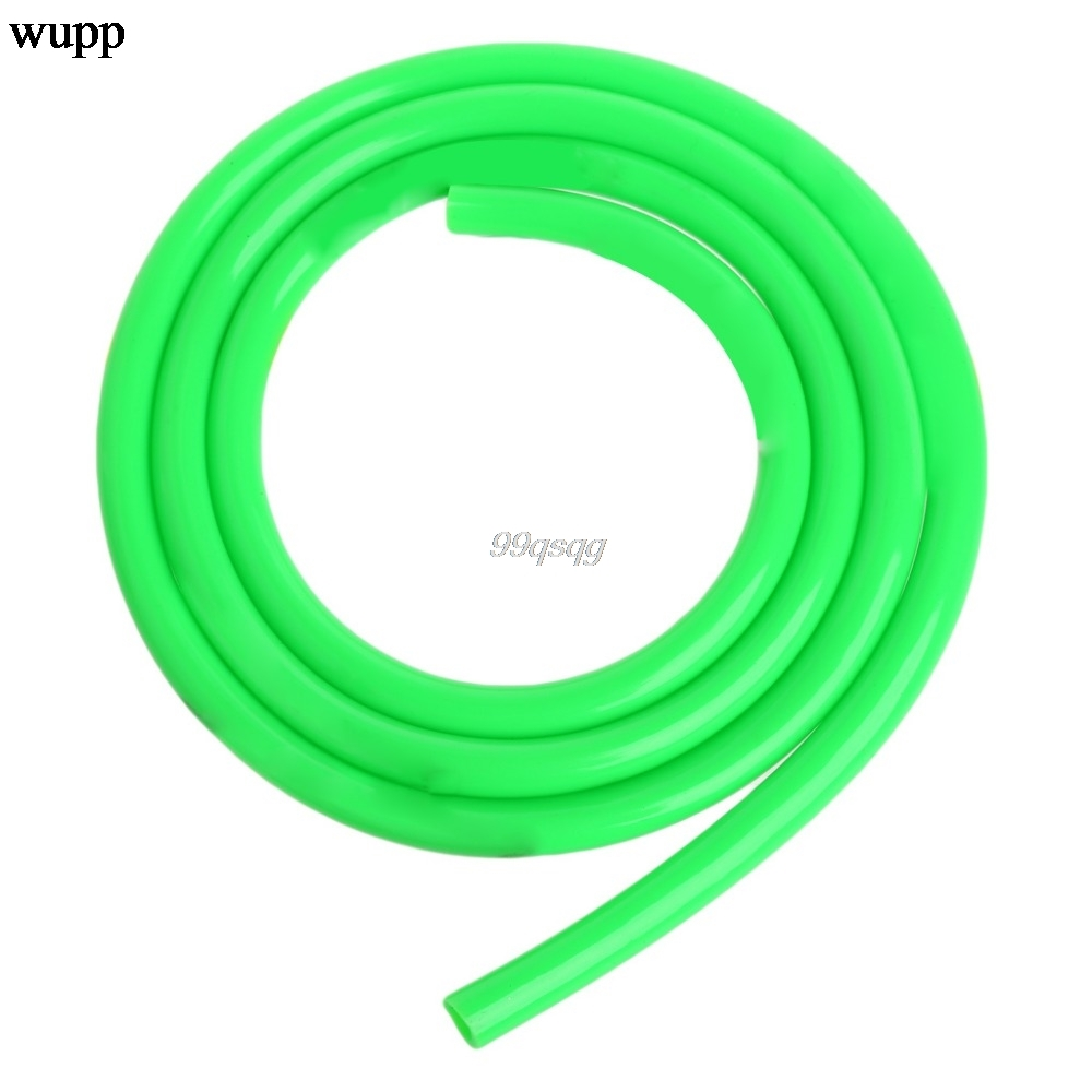 1m 5mm I//D 8mm O//D Motorcycle Petrol Fuel Hose Gas Oil Tube Line Pipe Green
