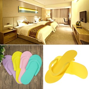 Image 2 - 12Pair Indoor Disposable Slippers For  Pedicure Salon Hotel Usage Foam Flip Flops New  26.5x7.5cm