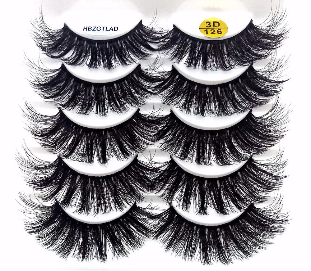 NEW 1/5/10/20 Pairs 100% Real Mink Eyelashes 3D Natural False Eyelashes Mink Lashes Soft Eyelash Extension Makeup Kit Cilios