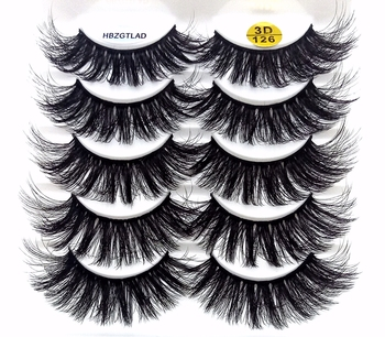 2021 NEW 5/10 pairs 100% Real Mink Eyelashes 3D Natural False Eyelashes Mink Lashes Soft Eyelash Extension Makeup Kit Cilios 1