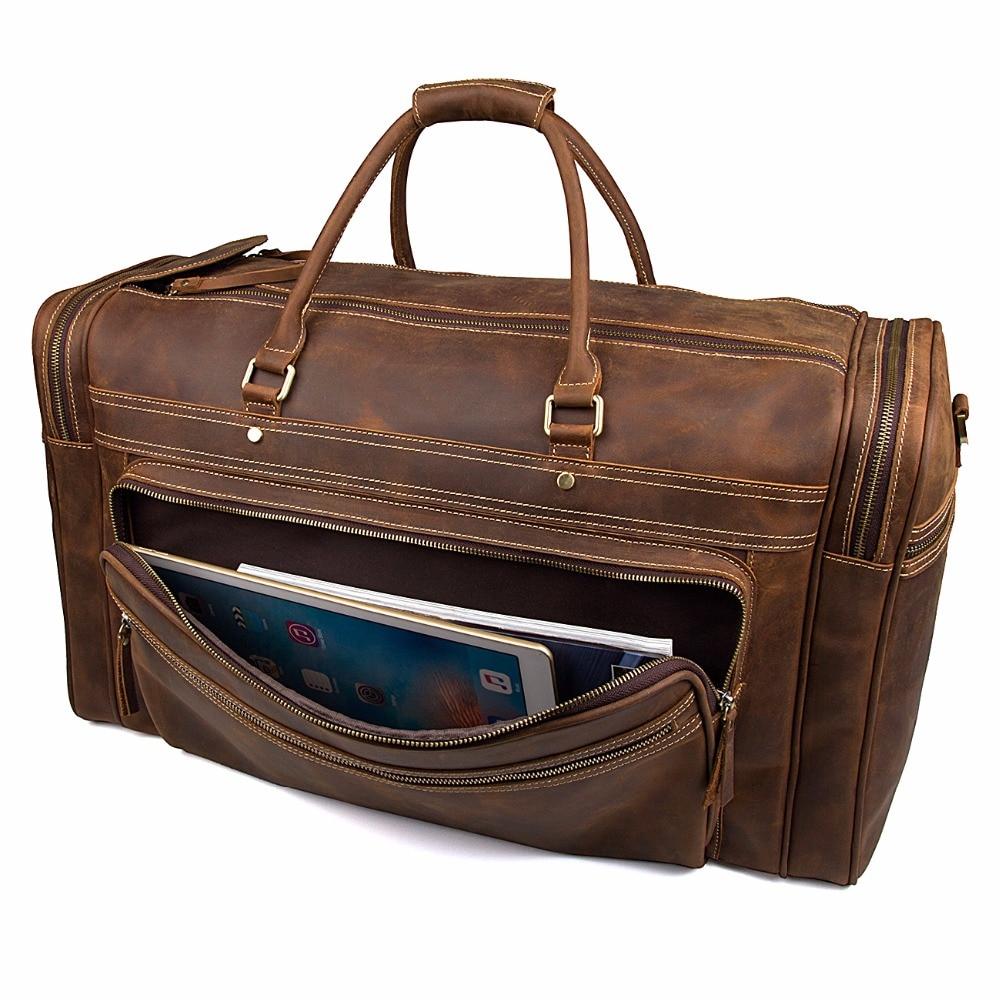 J.M.D New Product Excellent Crazy Horse Leather Travel Handbags Big Capacity Fashional Travel Duffel For Men 7317LR/-1