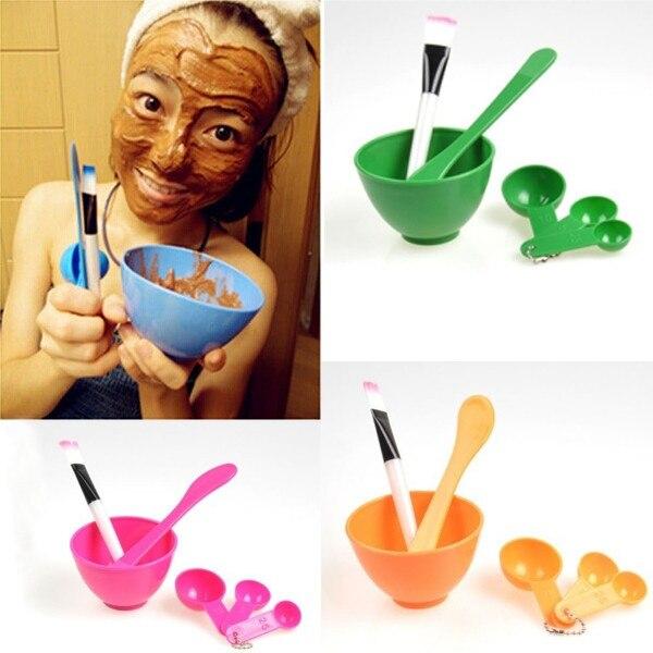 Free Shipping 6in1 Ladies DIY Beauty Makeup Facial Face Mask Mixing Bowl Brush Spoon Stick Set Kits Tool 2016 Hot Sales