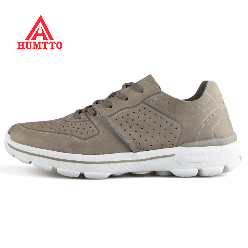 New 2018 HUMTTO Mens Leather Outdoor Running Shoes Sneakers For Male Sports Trail Running Run Sneakers Shoes Men Zapatillas