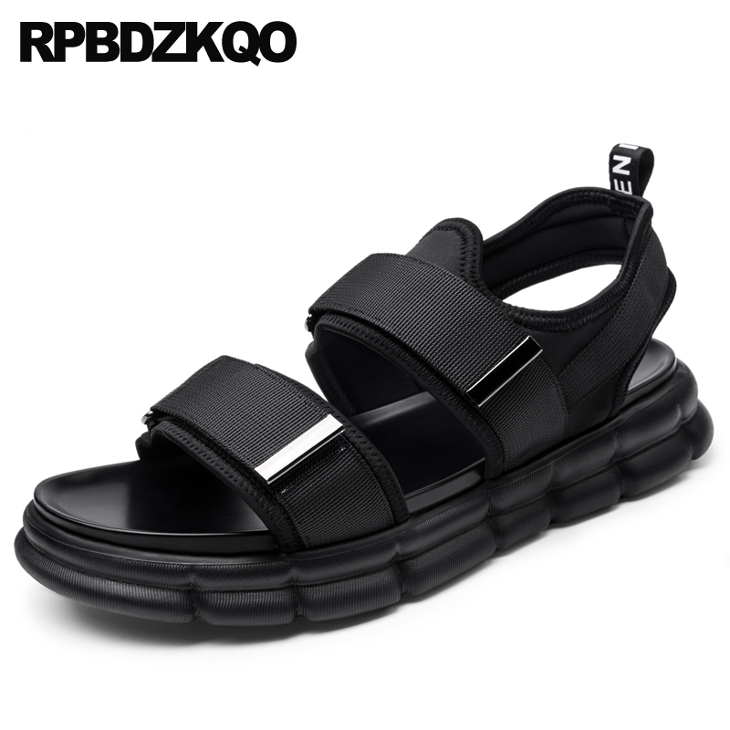 italian beach native casual men gladiator sandals summer famous brand nice open toe genuine leather shoes fashion runway flat