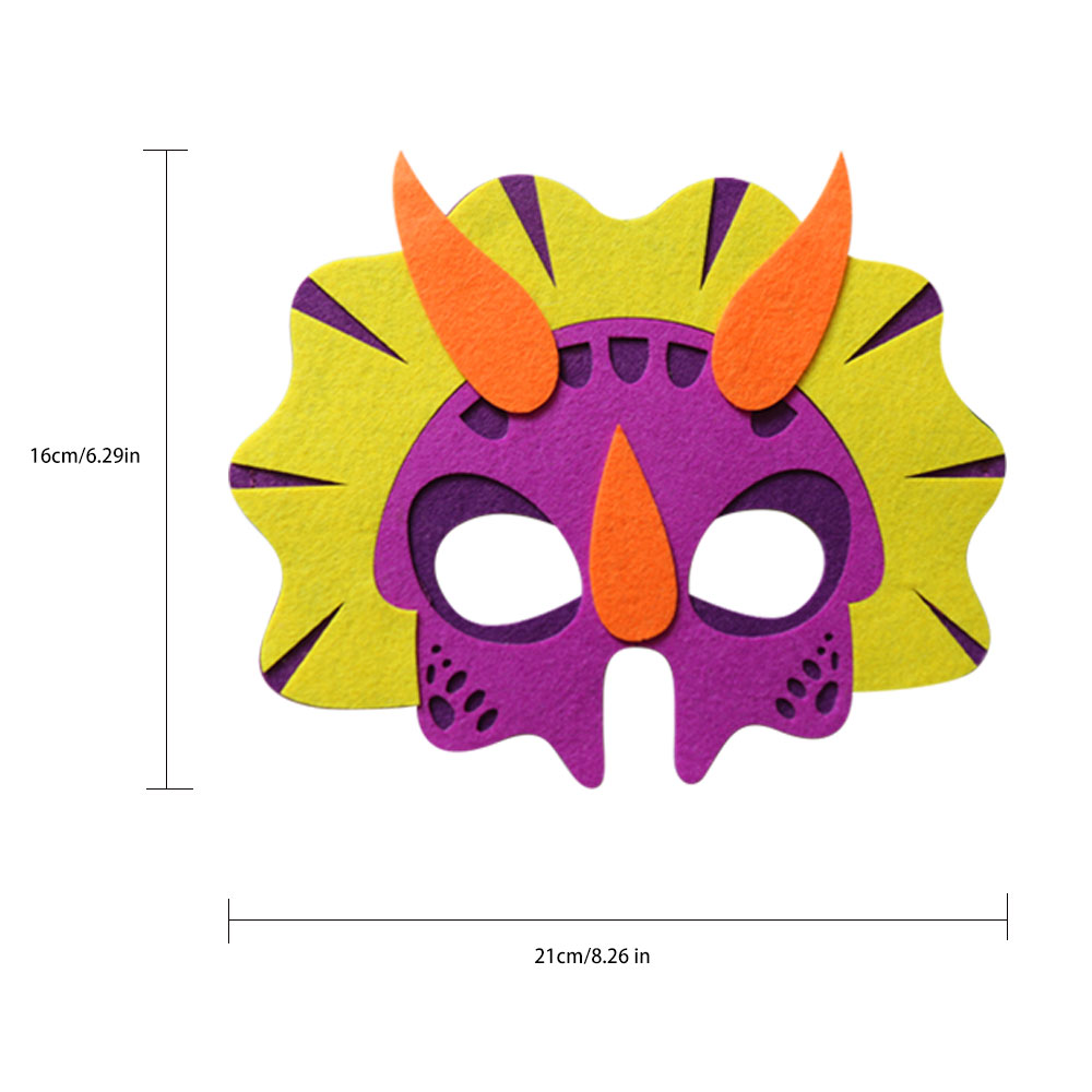 D Q Z Purple Diy Felt Triceratops Mask Costumes For Christmas Party