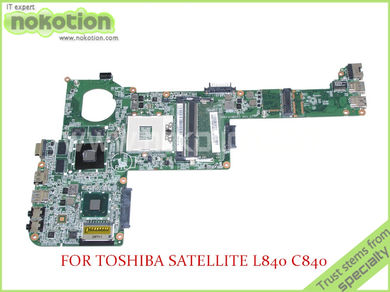 NOKOTION DABY3CMB8E0 REV E A000175450 For toshiba Satellite C840 L840 Laptop motherboard HD4000 ATI 216-0833000 HD7670M nokotion a000175380 laptop motherboard for toshiba satellite c840 l840 main board ati hd7670m graphics ddr3 daby3cmb8e0