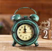 European American Country Retro Alarm Clock Creative Personality Home Decoration Table Clock Desktop Bar Cafe Study Room