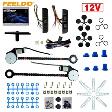 12V Car Universal 2-Doors Electric Power Window Kits with 3pcs/Set Moom Switches #AM4419