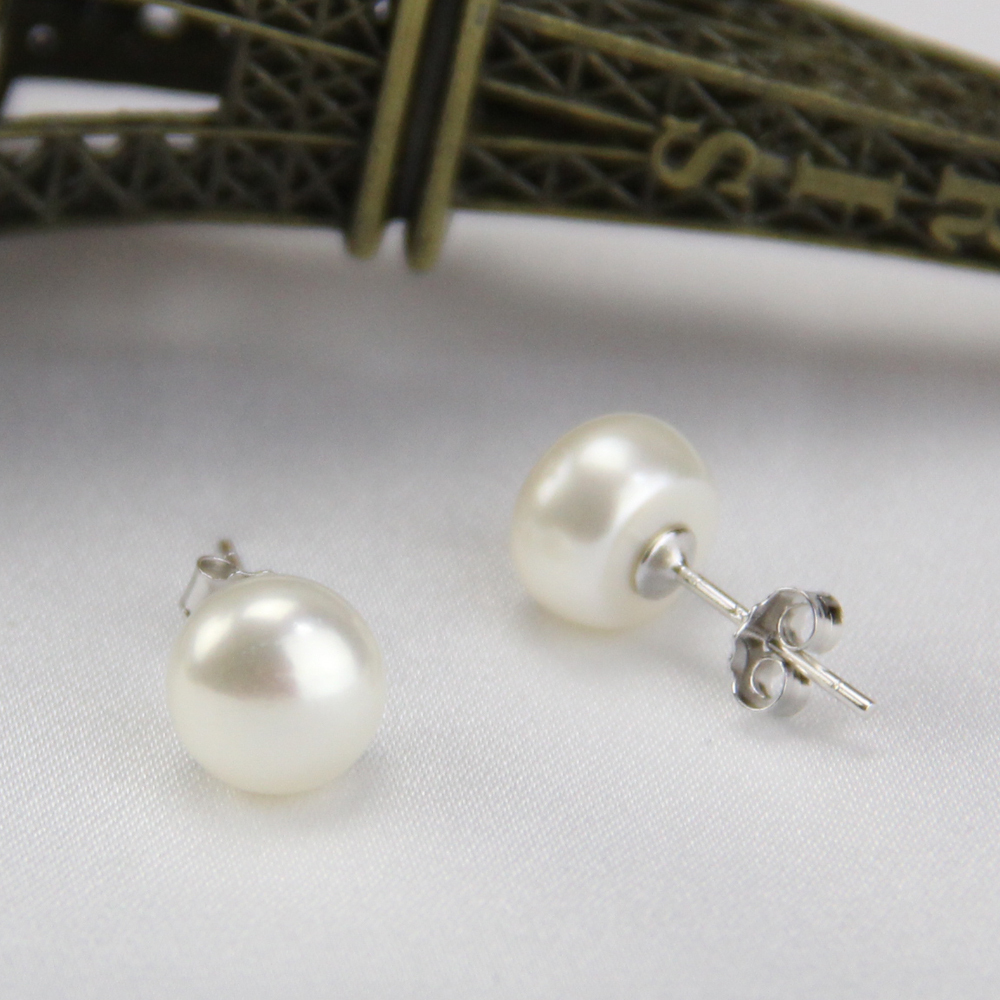 earrings for black stud pearl store sparkle s