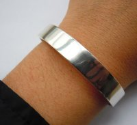 Handmade Mens&Ladies Solid 999Fine Silver Bangle