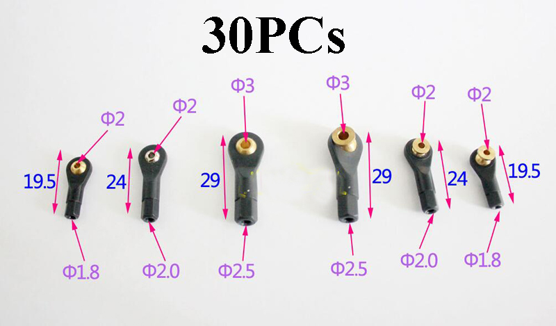 M1.8/M2/M3 Ball Ends Joint Nylon Connector Links Rod Tie Adapters For Rc Boat Car Airplane Trucks Buggy DIY Parts