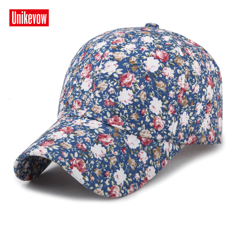 2018 Samll Floral   Baseball     Cap   For Women Summer Beach Fashion Sun hat