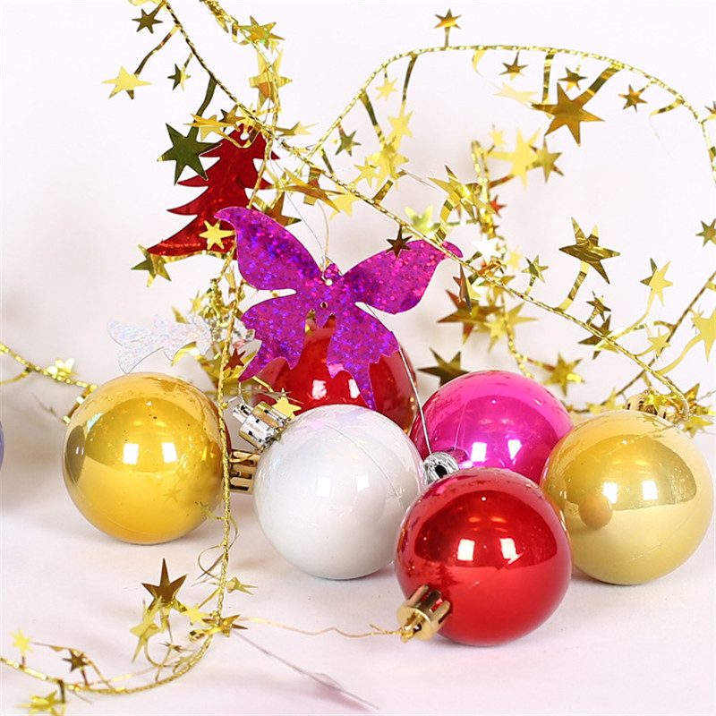 unidades unids bola con m cuerda del rbol de navidad colgando adornos de