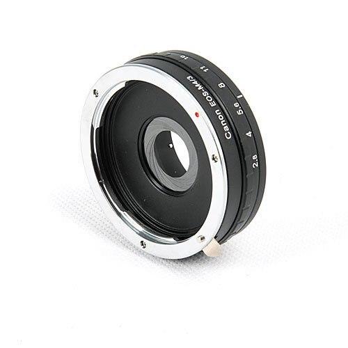 Встроенный Aperture кольцо для Canon EF Объектив Микро 4/3 M4/3 Крепление Камеры Адаптер Поддерживает Olympus E-P1 E-P2 MFT Panasonic DMC-G1