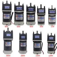 15W ~ 300W Gear Motor Worm Gear Gearbox Worm Gear Reducer RV Motor DC 12V/24V