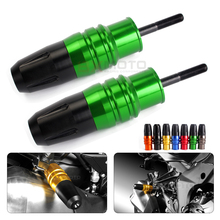2pcs Z 1000 z1000sx green Motorcycle CNC Crash Pads Exhaust Sliders Crash Protector for Kawasaki Z1000 Z1000SX accessories parts