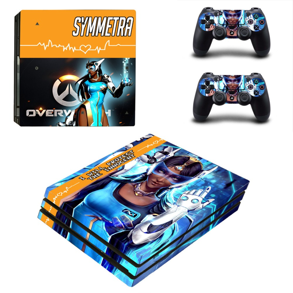 OW SYMMETRA PS4 Pro Skin Sticker Cover For Sony Playstation 4 Pro Console&Controllers
