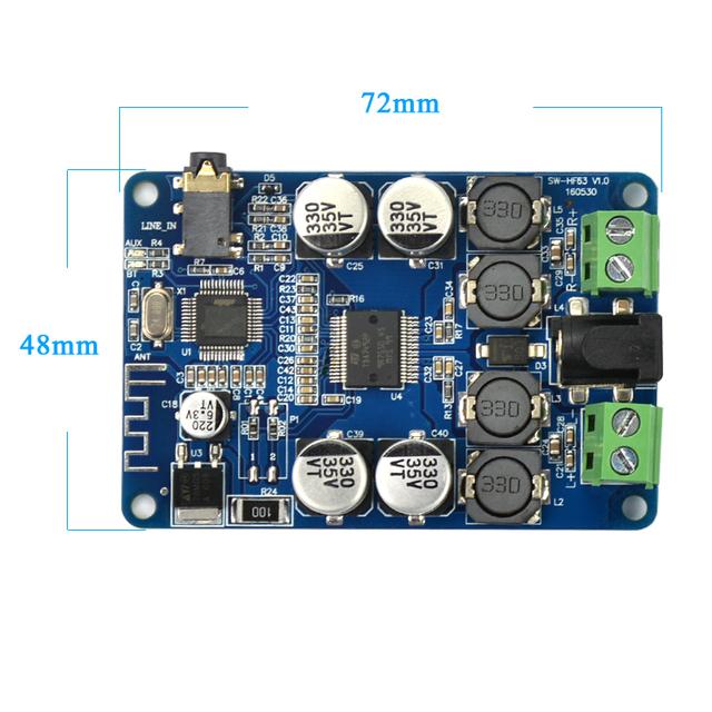 AIYIMA TDA7492P Bluetooth Receiver Amplifier Audio Board 25W*2 Power Amplifier Speakers Modified Music Mini Amplifiers Diy