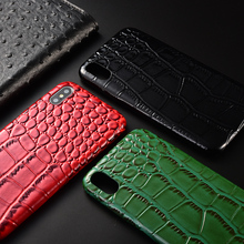 Ultra Thin Crocodile Skin PU Leather Back Cover for iPhone X