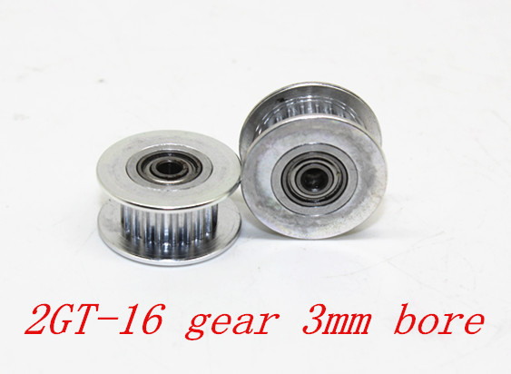 3D printer accessories 2GT 16 tooth synchronous wheel pulley wheel Perlin passive idler pulley wheel bore 3mm3D printer accessories 2GT 16 tooth synchronous wheel pulley wheel Perlin passive idler pulley wheel bore 3mm