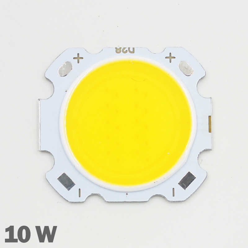 10pcs LED COB Chip 10W 600-650lm Chip Input DC30-35V  Chip Size 28mm-20mm Cold/Warm White Fit For DIY LED Floodlight Spotlight