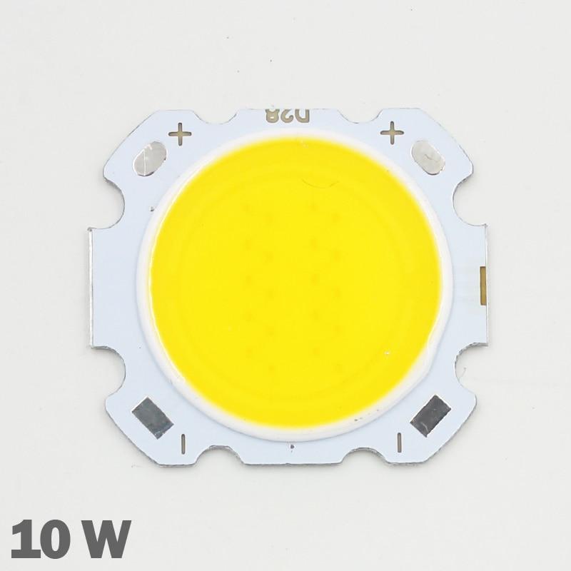 10pcs LED COB Chip 10W 600-650lm Chip Input DC30-35V  Chip Size 28mm-20mm Cold/Warm White Fit For DIY LED Floodlight Spotlight