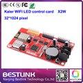 KALER XU2W cartão de controlador de led 32*512 pixel controle wi-fi cartão x2w porta USB para p10 levou visor do módulo p10 levou sinal em movimento p10