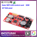 XU2W led controller card 32*512 pixel KALER wifi control card x2w USB port for p10 led moving sign p10 led display module p10