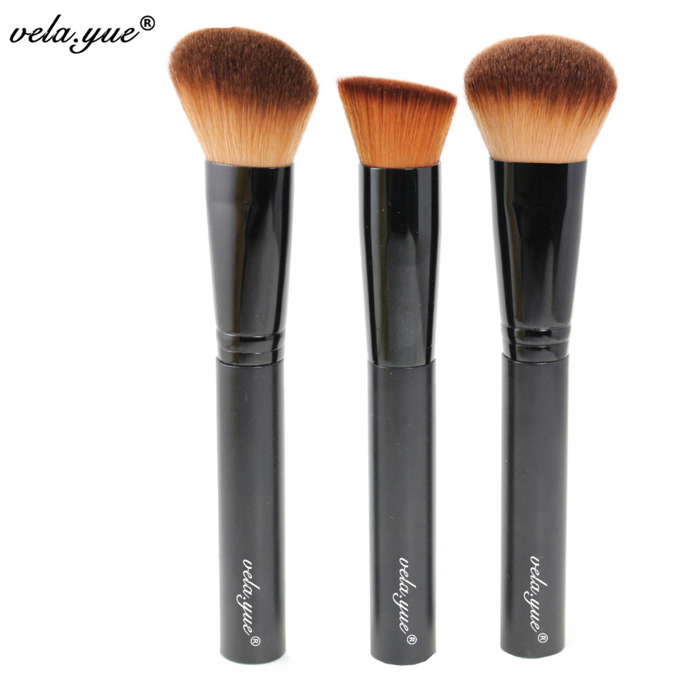 Professional Makeup Brushes Set 3pcs Multipurpose Brushes For Face Makeup Tools 2017 new europe style women clutch high