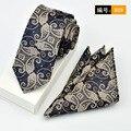 Toalla bolsillo lazo traje Square Hombres de negocios ocasional 6 CM lazo Estrecho Lazo de Los Hombres Pañuelo Pañuelo Set Suit
