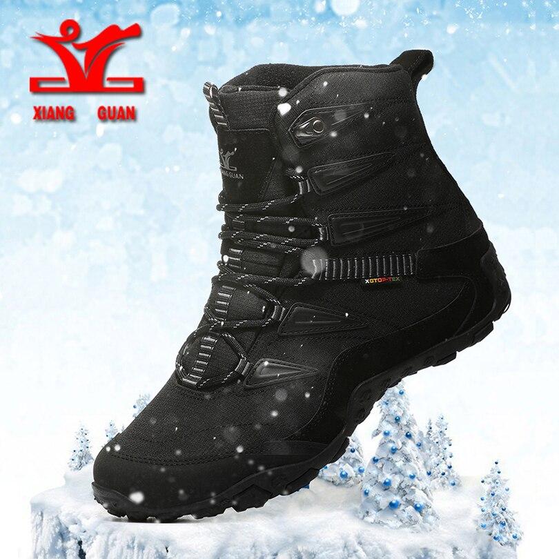 XIANG GUAN/Новинка; зимняя обувь для пеших прогулок; мужские Противоскользящие зимние ботинки; Мужская Спортивная обувь; женская теплая обувь для походов с плюшевой подкладкой Походная обувь      АлиЭкспресс