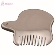 1 Pcs bian stone head massager comb health care Guasha comb traditional medicine stones skin slimming beauty health tools