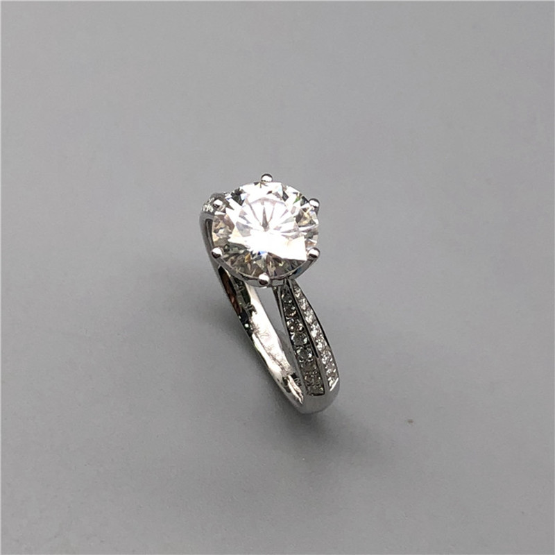 925 Silver Women Wedding Rings 7 25mm Big Zircon Classic Ring for Women Luxury Jewelry in Wedding Bands from Jewelry Accessories