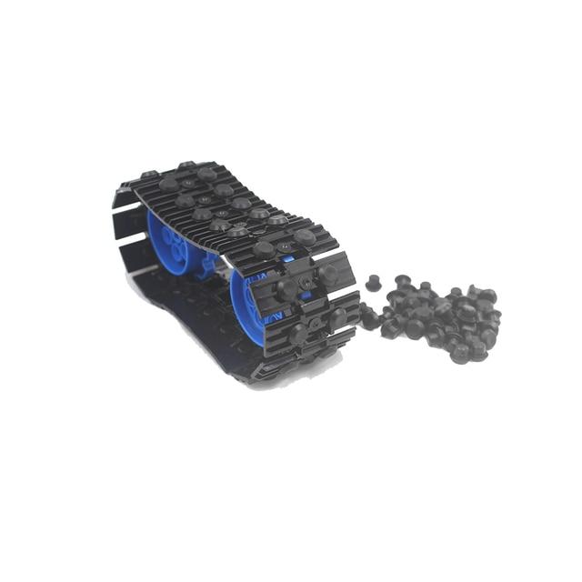 Granel Técnica parte Rolha De Borracha Aperto de elo da Cadeia Faixa Da Lagarta Attachmen Tijolo Brinquedo 24375 Building Block compatível com Lego