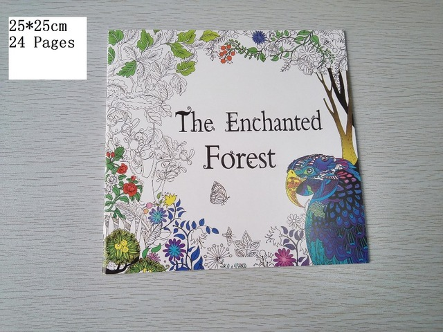 Us 3 49 English Edition The Enchanted Forest Coloring Book 24 Pages Secret Garden Styles For Adult Relieve Stress Painting Drawing Books In Books