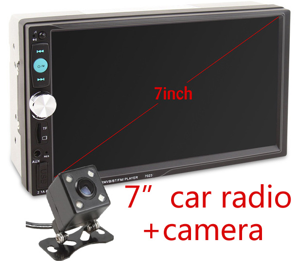 7 Inch Car Radio Car Stereo Audio Video New Wince 2Din Universal Autoradio Bluetooth MP3 USB SD Free rear view camera