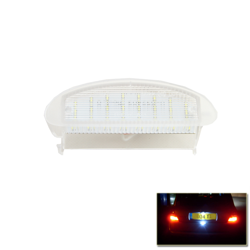 1Piece High Quality SMD Led Number License Plate Lights Lamp For Renault Clio II For Twingo I Auto Vehicles Xenon White Lamps liandlee for alfa romeo 156 159 166 147 led car license plate light number frame lamp high quality led lights